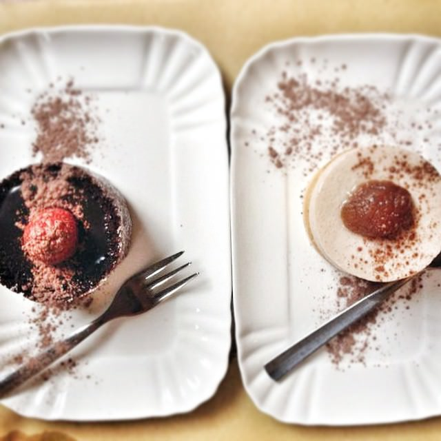 Dessert anyone? ?❤❤❤ Chocolate and raspberry mousse or chestnut mousse ? Which one do you prefer? #foodporn #dessert #choosehappines #mousse #chocolate #sweet #dinner #picoftheday #foodstyle #instafood #vegetarianocasual